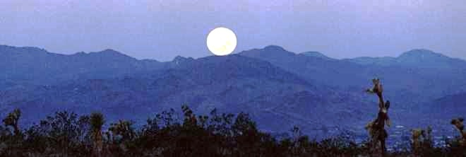 mountain moonset