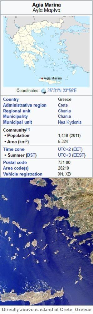 Agia Marina map