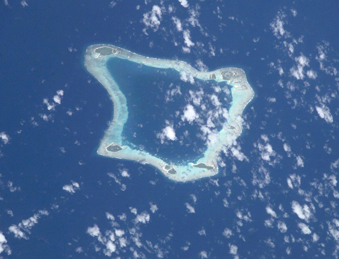 Palmerston Atoll by NASA