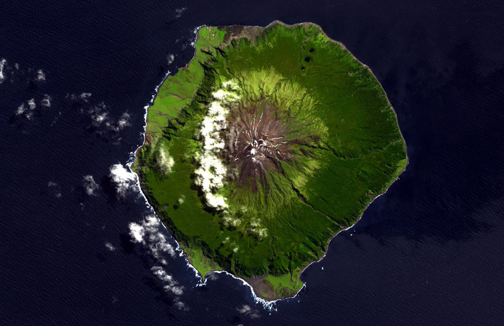 Tristan da Cunha ASTER Top Remote Places on Earth
