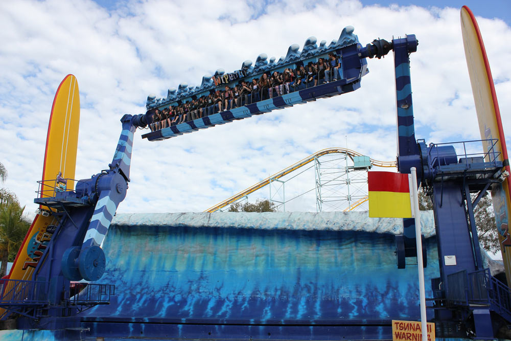 Wipeout ride at Dreamworld, Queensland AU